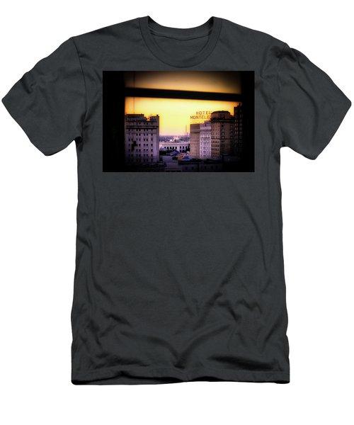 New Orleans Window Sunrise Men's T-Shirt (Athletic Fit)