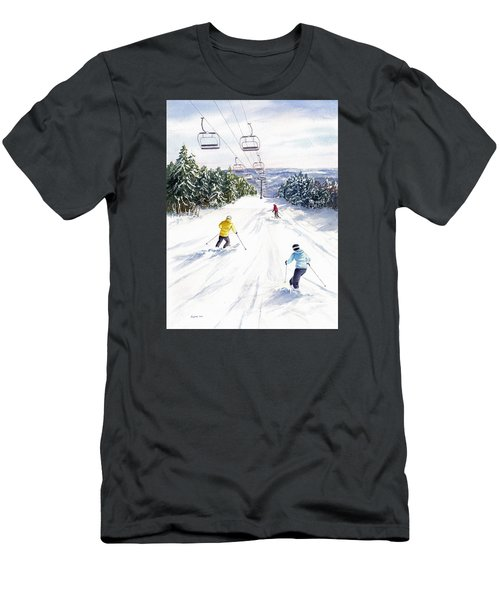 Men's T-Shirt (Slim Fit) featuring the painting New Snow by Vikki Bouffard