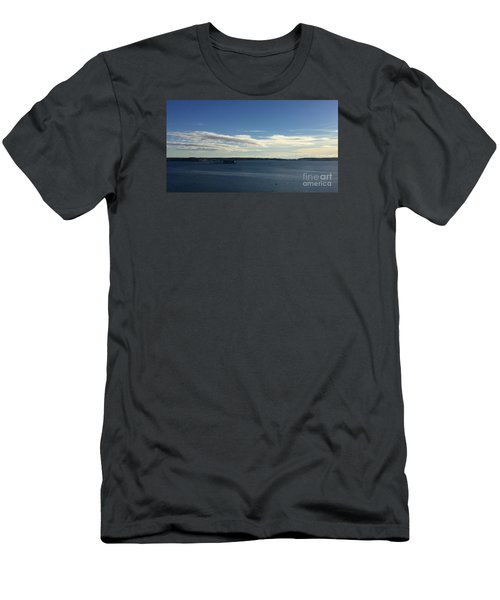 New Year's Day 2016 On Casco Bay, Portland, Maine Men's T-Shirt (Slim Fit) by Patricia E Sundik
