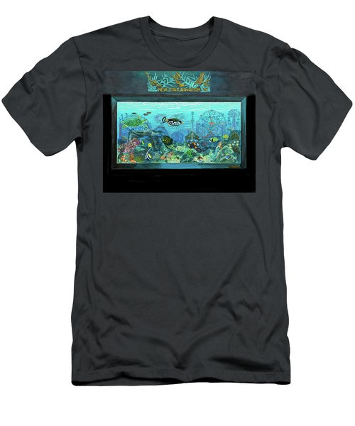 New York Aquarium Men's T-Shirt (Slim Fit) by Bonnie Siracusa