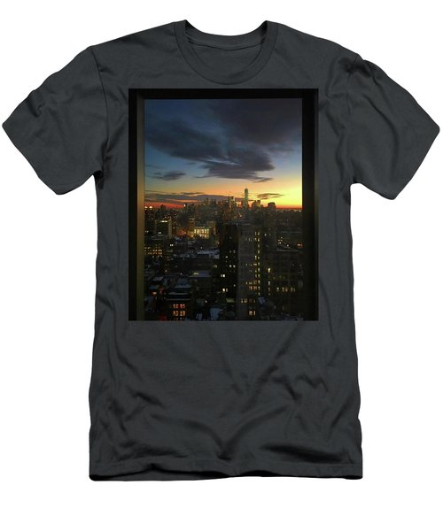 New York At Sunset Men's T-Shirt (Athletic Fit)