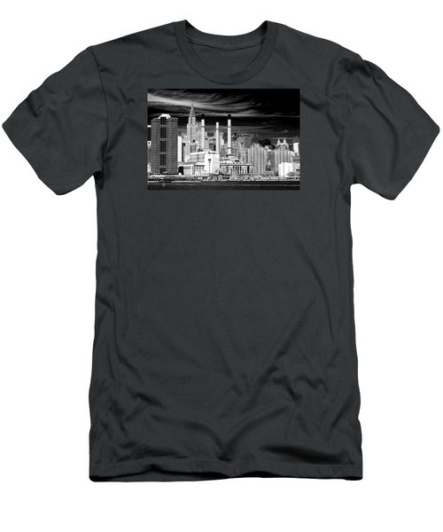 Men's T-Shirt (Athletic Fit) featuring the photograph New York City by Ken Barrett
