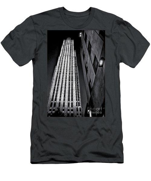 New York City Sights - Skyscraper Men's T-Shirt (Slim Fit) by Walt Foegelle