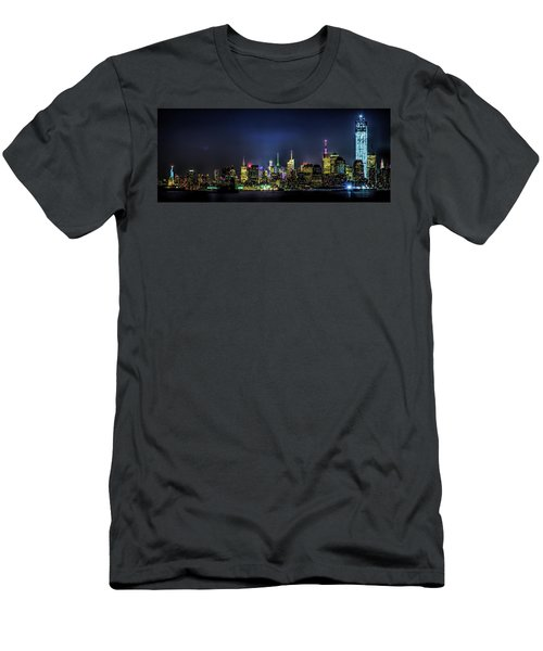 Men's T-Shirt (Athletic Fit) featuring the photograph New York City Skyline by Theodore Jones