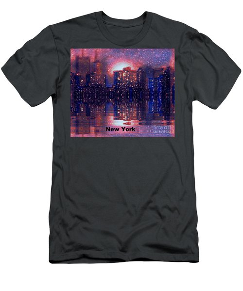 New York Men's T-Shirt (Slim Fit) by Holly Martinson