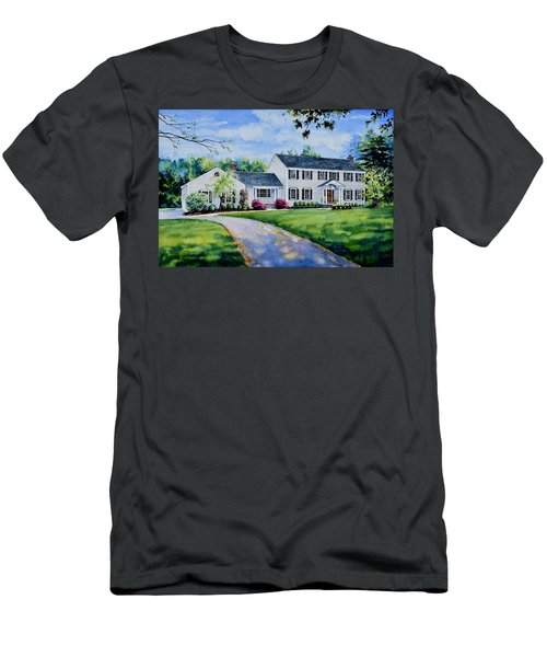 Men's T-Shirt (Athletic Fit) featuring the painting New York Home Portrait by Hanne Lore Koehler