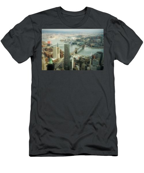 New York View Of East River Men's T-Shirt (Athletic Fit)