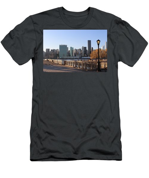 New York's Skyline - A View From Gantry Plaza State Park Men's T-Shirt (Athletic Fit)