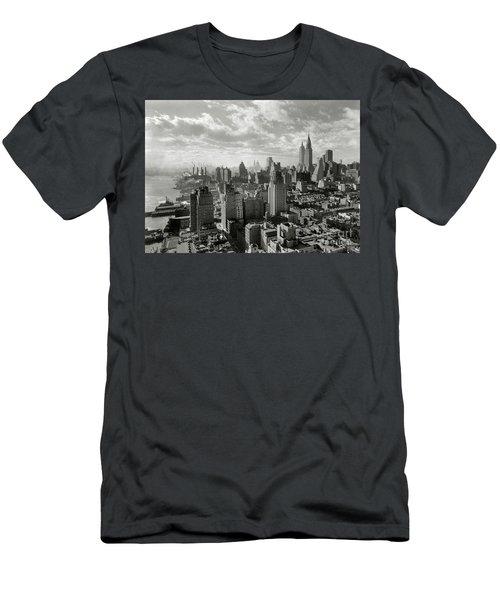 New Your City Skyline Men's T-Shirt (Slim Fit) by Jon Neidert