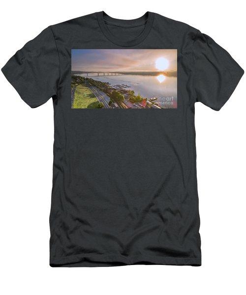 Newburgh Waterfront At Sunrise 3 Men's T-Shirt (Athletic Fit)