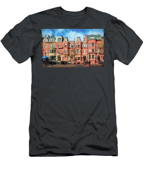 Newbury Street In Boston Men's T-Shirt (Athletic Fit)