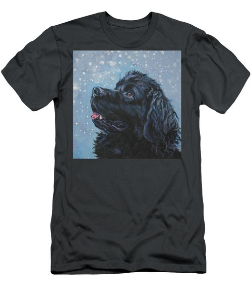 Newfoundland In Snow Men's T-Shirt (Athletic Fit)