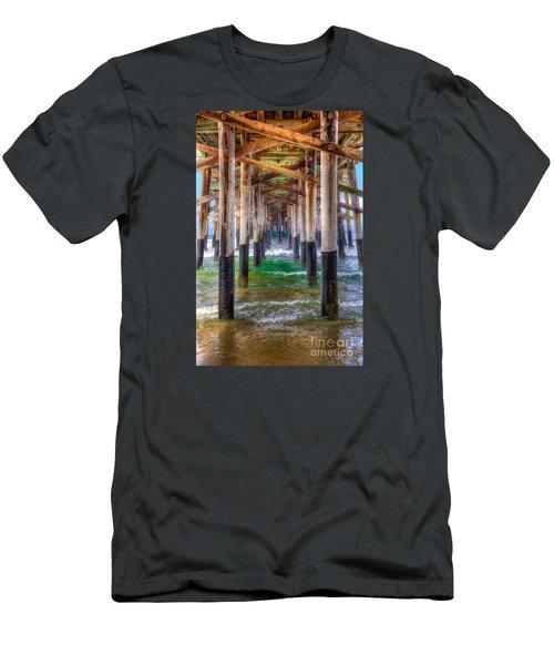 Newport Beach Pier - Summertime Men's T-Shirt (Slim Fit) by Jim Carrell