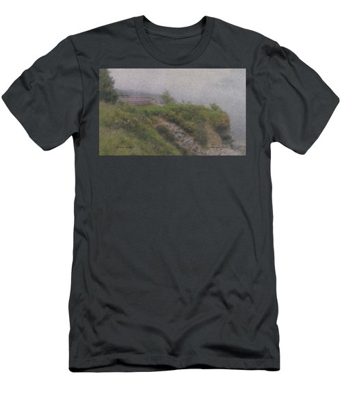 Newport Cliff Walk In The Fog Men's T-Shirt (Athletic Fit)