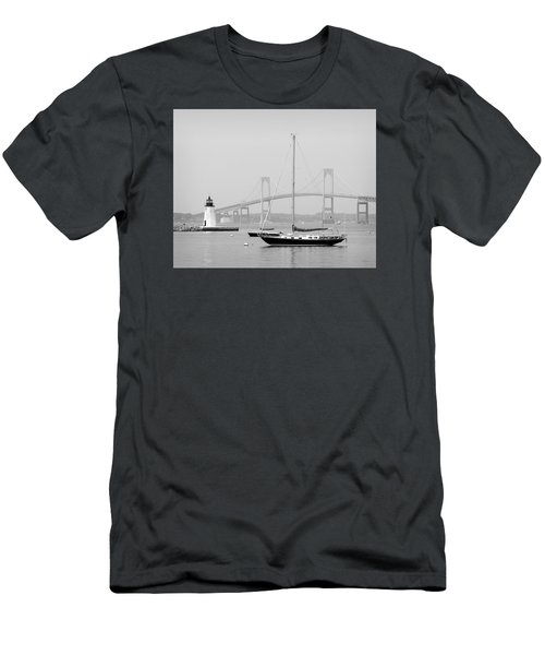 Newport, Rhode Island Serene Harbor Scene Men's T-Shirt (Athletic Fit)