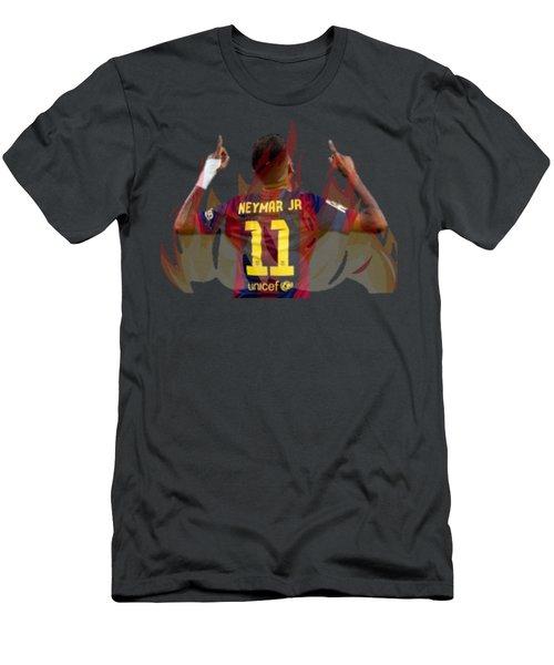 Neymar Men's T-Shirt (Slim Fit) by Vincenzo Basile