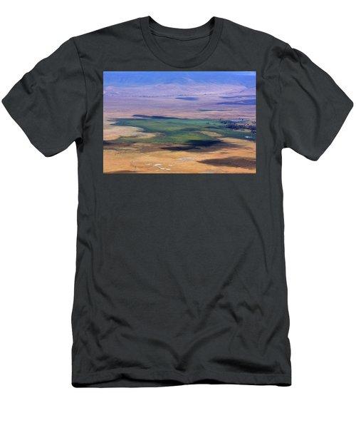 Men's T-Shirt (Athletic Fit) featuring the photograph Ngorongoro Crater Tanzania by Aidan Moran
