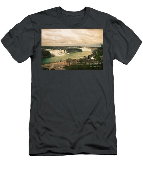 Men's T-Shirt (Slim Fit) featuring the photograph Niagara Falls by Mary Machare