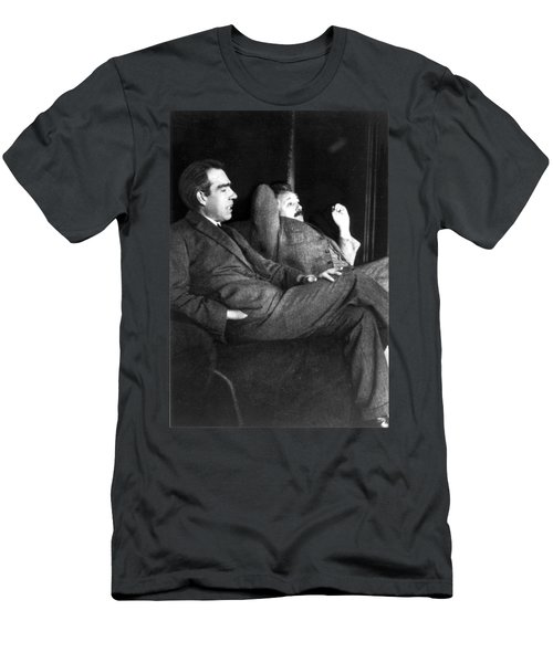 Niels Bohr And Albert Einstein Men's T-Shirt (Athletic Fit)