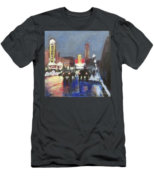 Night Around Michigan Theater Men's T-Shirt (Athletic Fit)