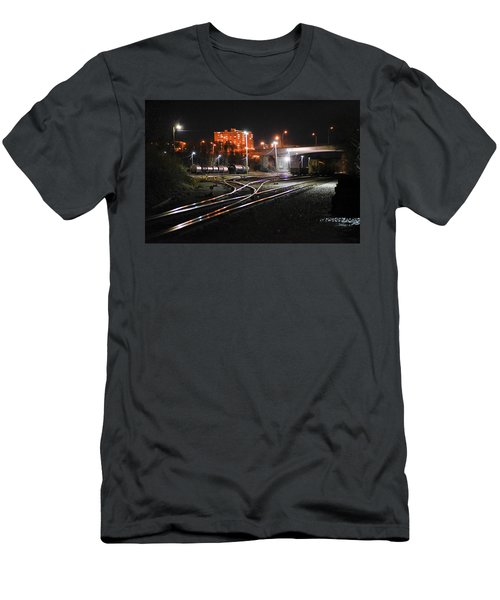 Night At The Railyard Men's T-Shirt (Athletic Fit)