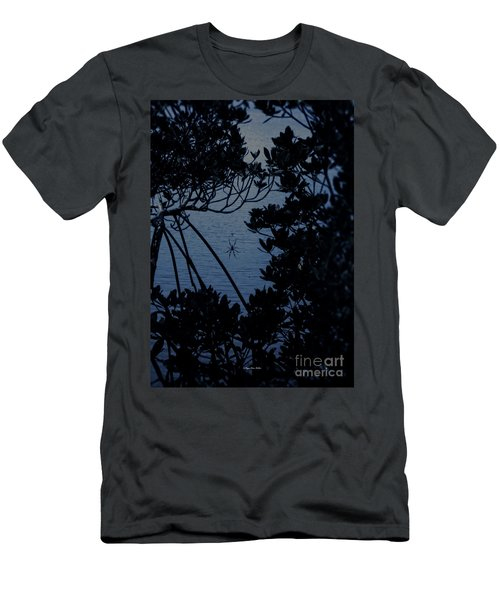 Men's T-Shirt (Athletic Fit) featuring the photograph Night Banana Spider by Megan Dirsa-DuBois