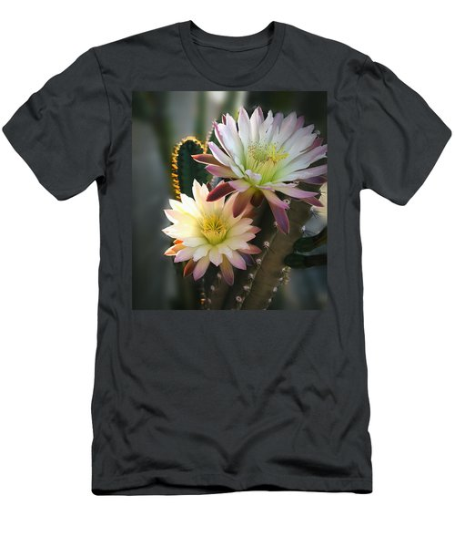 Men's T-Shirt (Slim Fit) featuring the photograph Night-blooming Cereus 3 by Marilyn Smith