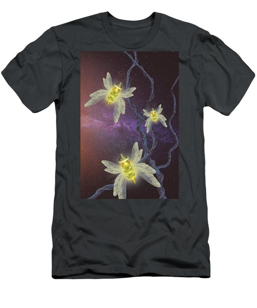 Night Butterflies Men's T-Shirt (Athletic Fit)
