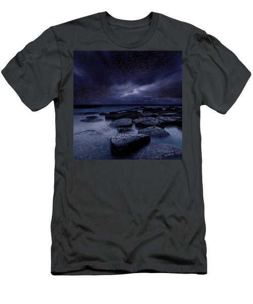 Night Enigma Men's T-Shirt (Slim Fit) by Jorge Maia