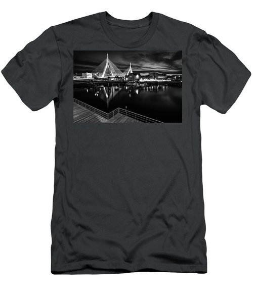 Night Falling On Zakim Bridge Men's T-Shirt (Athletic Fit)