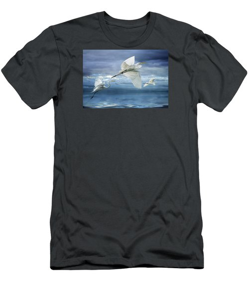 Night Flight Men's T-Shirt (Slim Fit) by Brian Tarr