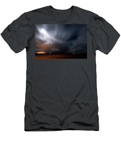 Men's T-Shirt (Athletic Fit) featuring the photograph Night In Iceland by Dubi Roman