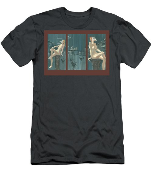 Night In Venice. Triptych Men's T-Shirt (Athletic Fit)