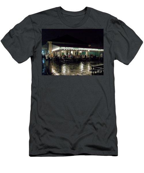 Night Life At Cafe Du Monde Men's T-Shirt (Athletic Fit)