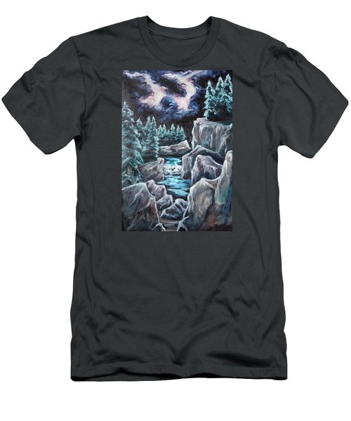 Night Of Stars Men's T-Shirt (Slim Fit) by Cheryl Pettigrew