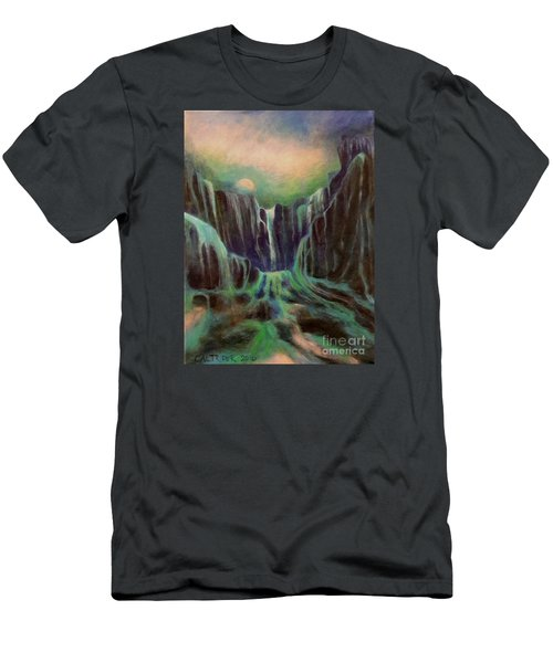 Night Of The Fall  Men's T-Shirt (Slim Fit) by Alison Caltrider