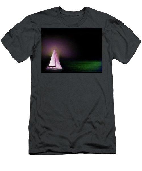 Night Sailing Men's T-Shirt (Slim Fit) by Michael Cleere