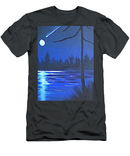 Night Scene Men's T-Shirt (Athletic Fit)