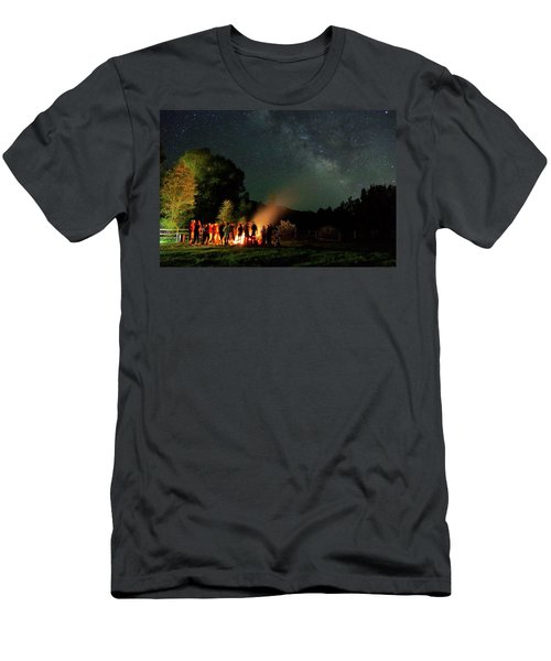 Night Sky Fire Men's T-Shirt (Slim Fit) by Matt Helm
