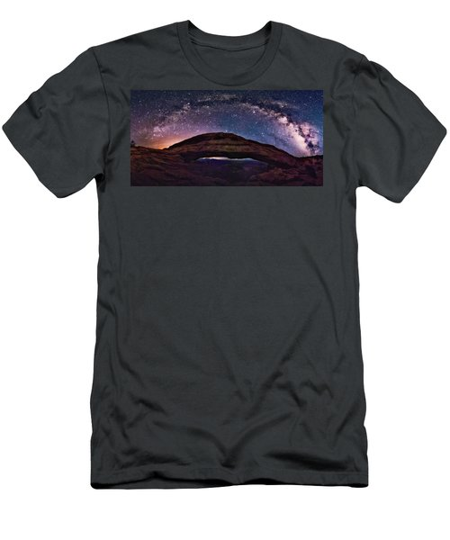 Night Sky Over Mesa Arch Utah Men's T-Shirt (Athletic Fit)