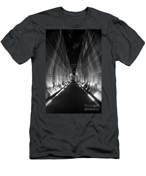 Night Time At Empty Sky Memorial Men's T-Shirt (Slim Fit) by Nicki McManus