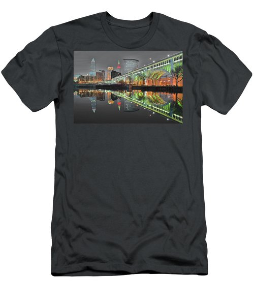 Men's T-Shirt (Slim Fit) featuring the photograph Night Time Glow by Frozen in Time Fine Art Photography