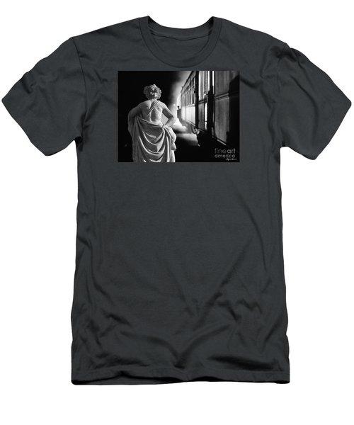 Night Train Men's T-Shirt (Slim Fit) by Lyric Lucas