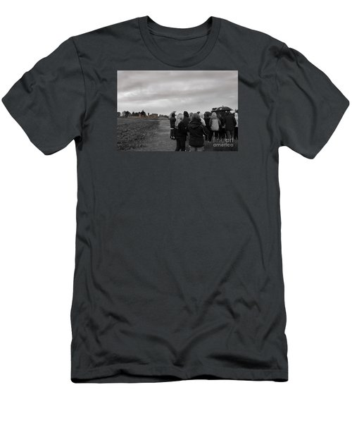 Men's T-Shirt (Slim Fit) featuring the photograph Night Vision Ghost Story In Bradgate Park. by Linsey Williams