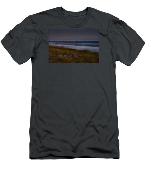 Men's T-Shirt (Slim Fit) featuring the photograph Nightlife By The Sea by Renee Hardison