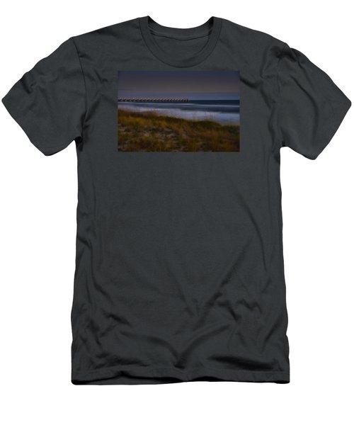 Nightlife By The Sea Men's T-Shirt (Slim Fit) by Renee Hardison