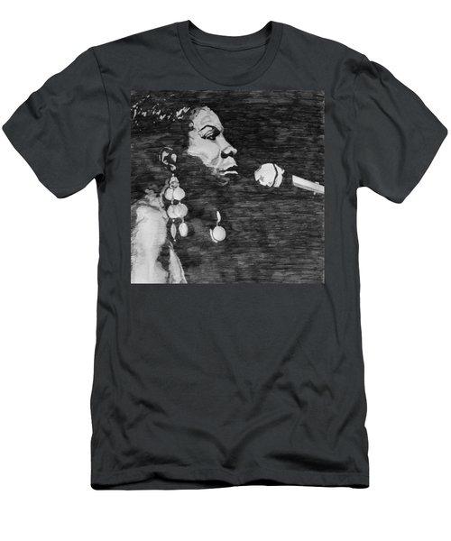 Nina Simone Men's T-Shirt (Athletic Fit)