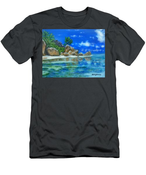 Nina's Beach Men's T-Shirt (Athletic Fit)