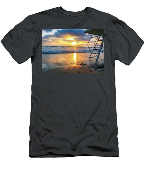 No Lifeguard On Duty Men's T-Shirt (Athletic Fit)