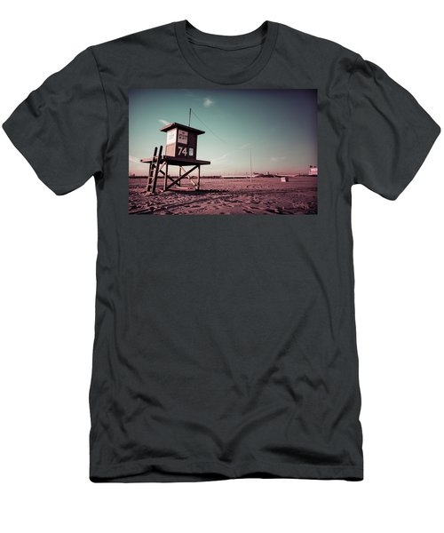 Men's T-Shirt (Slim Fit) featuring the photograph No Lifeguard On Duty by Joseph Westrupp